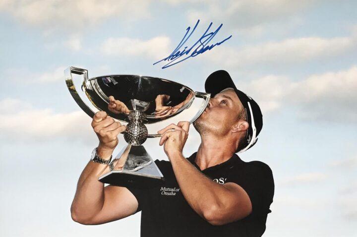 Autographed Henrik Stenson Photo, Huge Golf Poster - Firma Stella