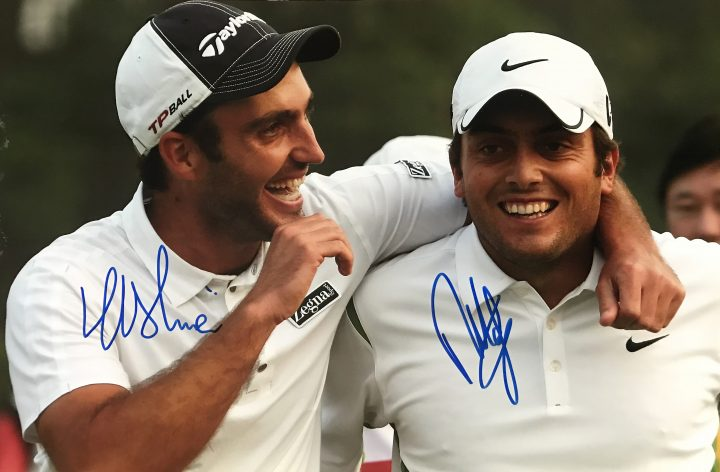 Francesco & Eduardo Molinari Signed Photo - Golf Brothers - Firma Stella