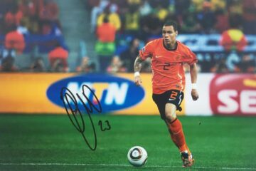 Gregory Van Der Wiel Signed Photo - Holland Football - Firma Stella