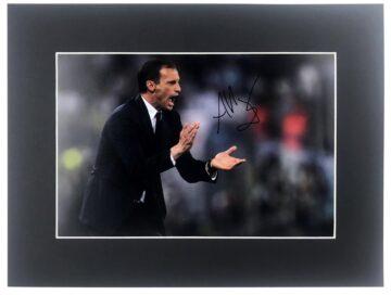 Massimiliano Allegri Signed Photo - Juventus Manager Display
