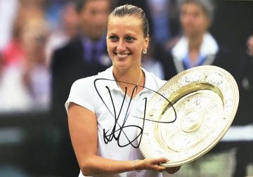 Petra Kvitova Signed Photo - Wimbledon Champion - Firma Stella