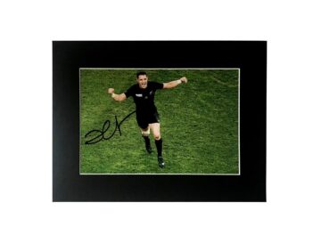 Signed Dan Carter Display