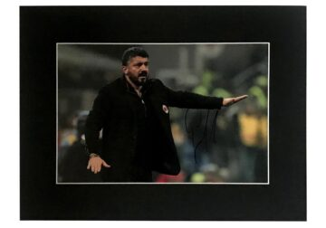 Signed Genaro Gattuso Photo Display - AC Milan