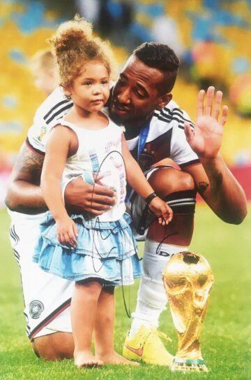 Signed Jerome Boateng Photograph - World Cup 2014 - Firma Stella