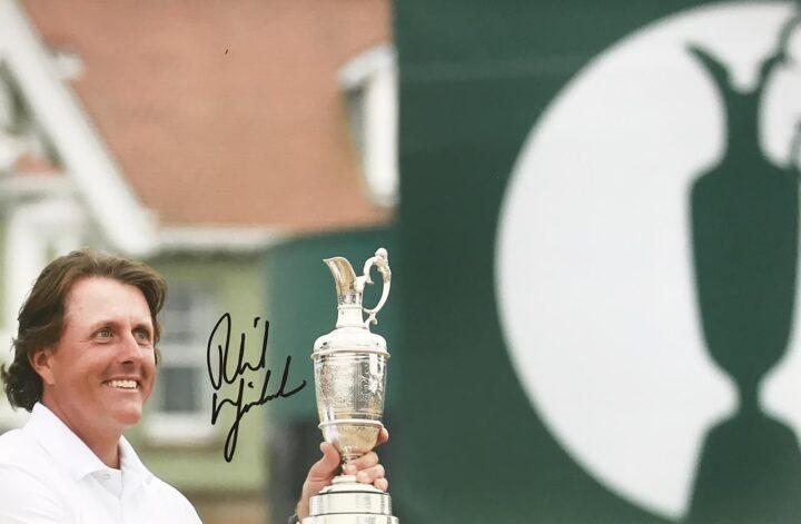 Signed Phil Mickelson Photo, British Open Champion - Firma Stella