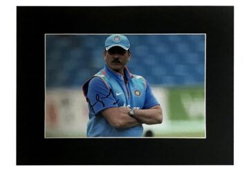 Signed Ravi Shastri Photo