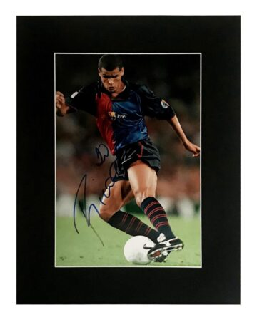 Signed Rivaldo Photo - Barcelona Football Display
