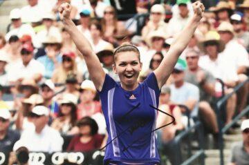 Signed Simona Halep Photo, Authentic Tennis Autograph - Firma Stella