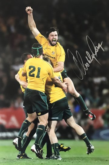 Adam Ashley Cooper Signed Photo, Wallabies - Celebration - Firma Stella
