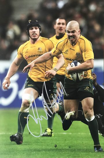 Drew Mitchell Signed Photo, Australia Wallabies Winger - Firma Stella