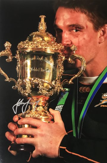 John Smit Signed Photo, Rugby World Cup 2007 - Champions - Firma Stella