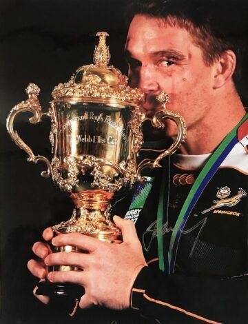 John Smit Signed Photo, Springboks RWC Champions 2007 - Firma Stella