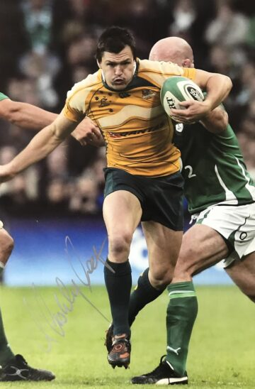Signed Adam Ashley Cooper Photo, Wallabies - Tackle Break - Firma Stella