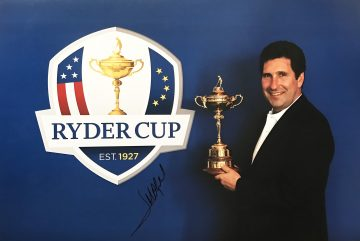 Signed Jose Maria Olazabal Photo - Ryder Cup 2012 - Firma Stella