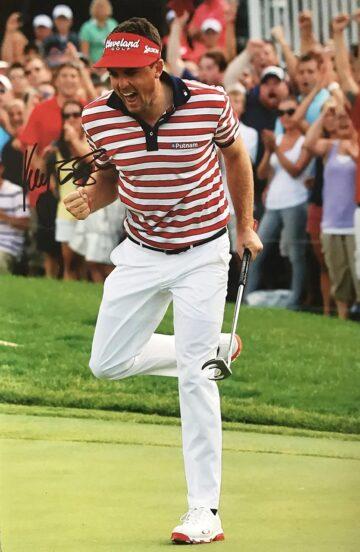 Signed Keegan Bradley Photo, USA Golf - Firma Stella