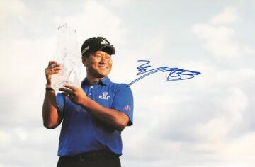 Signed KJ Choi Photo, Authentic Golf Signature - Firma Stella
