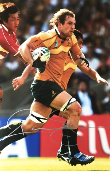Signed Rocky Elsom Photo, Australia Wallabies Legend - Firma Stella