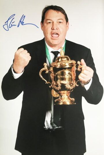 Steve Hansen Signed Photo, RWC Champions - Firma Stella