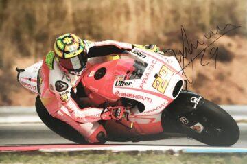 Andrea Iannone Autograph - Genuine Moto GP Poster Photograph
