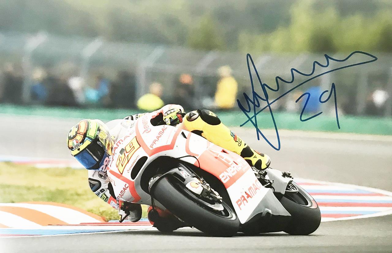 Andrea Iannone Autographed Poster - Moto Grand Prix Autograph