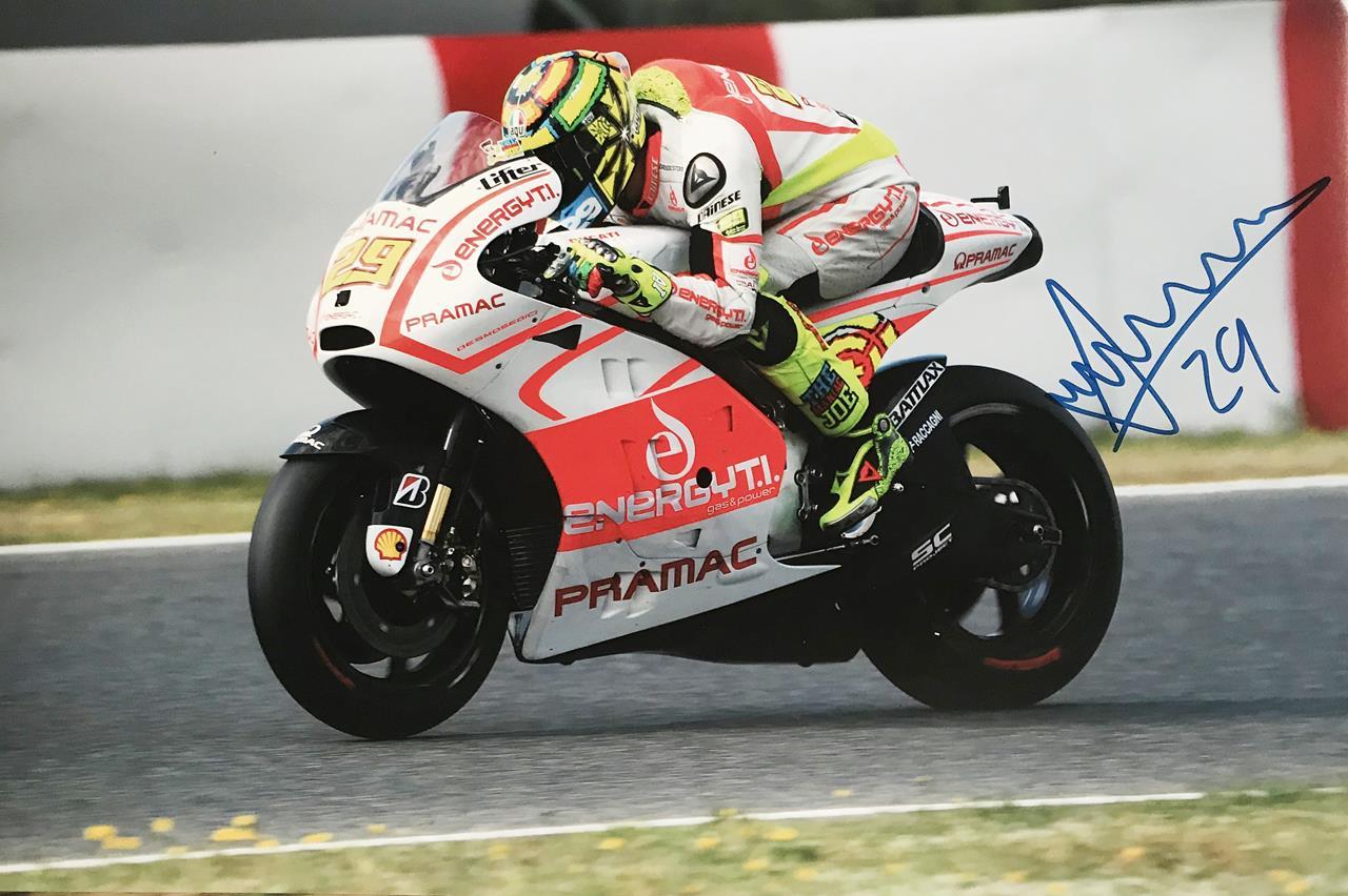 Andrea Iannone Autographed Poster Photo - Moto GP Autograph