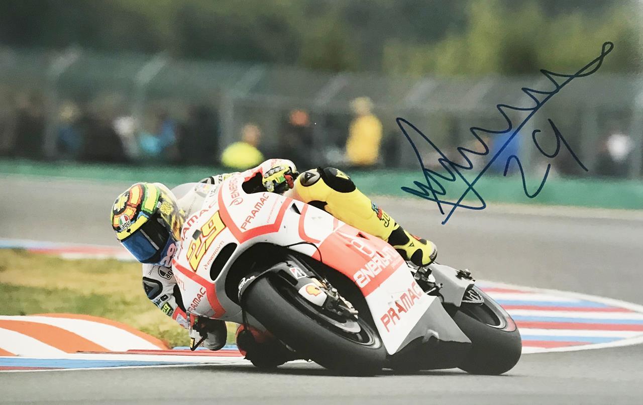 Andrea Iannone Signature - Genuine Moto GP Signed Poster