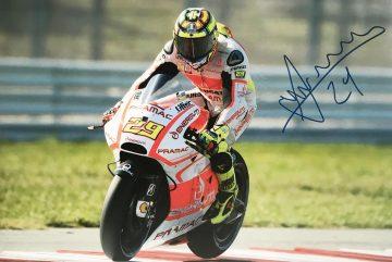 Autographed Andrea Iannone Poster Photo - Moto GP Autograph