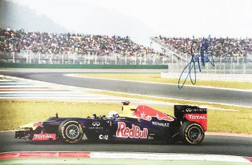 Autographed Sebastian Vettel Poster - Iconic Formula 1 Signed Photo