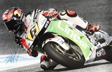 Autographed Stefan Bradl Poster - Authentic Moto GP Signed Signature