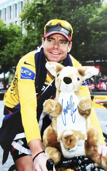 Cadel Evans Autograph - Genuine Signed Cycling Poster Photo