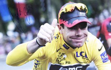 Cadel Evans Signature Signed - Tour de France Poster