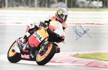 Dani Pedrosa Autograph - Poster - Genuine Moto GP Signature
