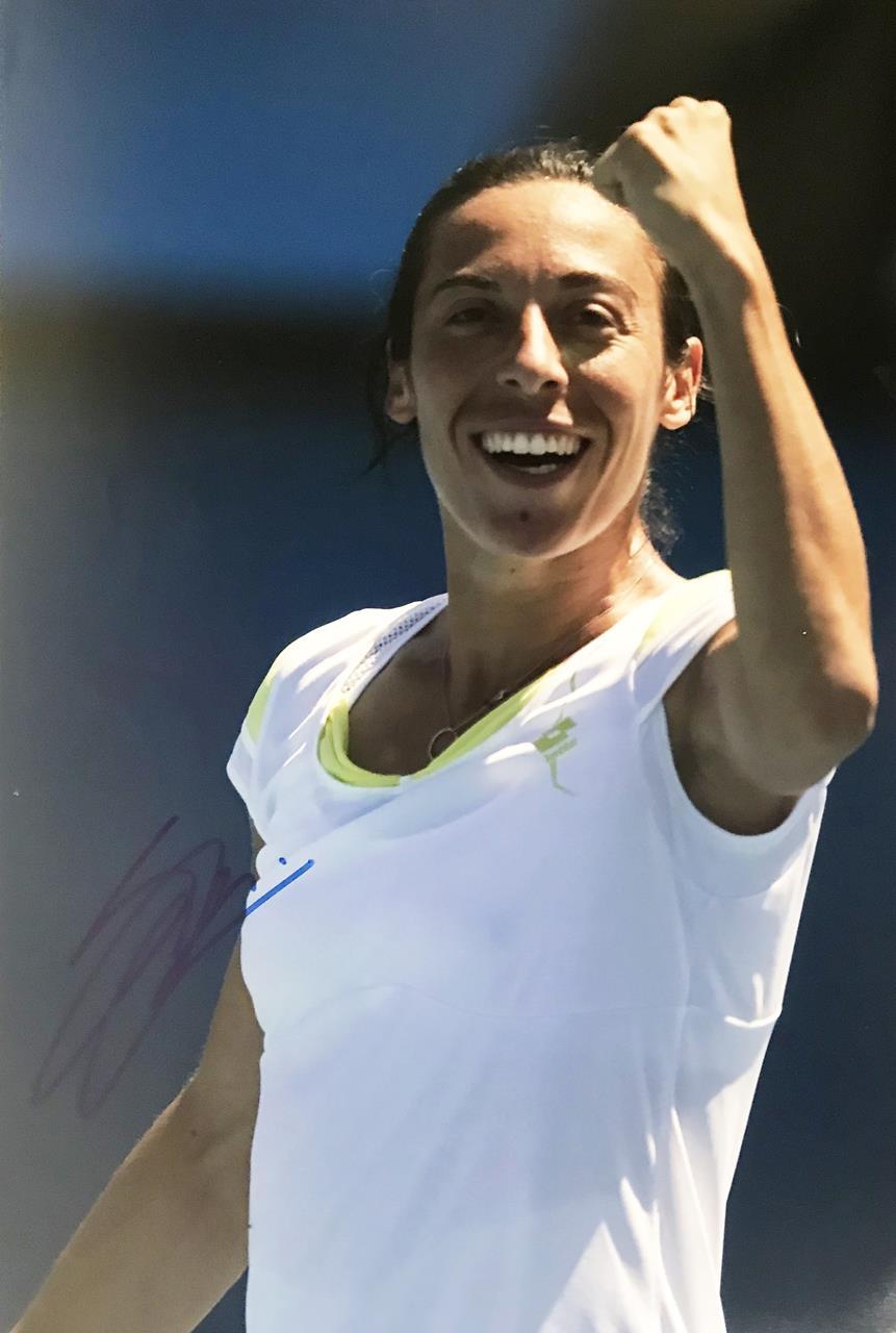 Francesca Schiavone Autograph - Signed Tennis Poster Photograph