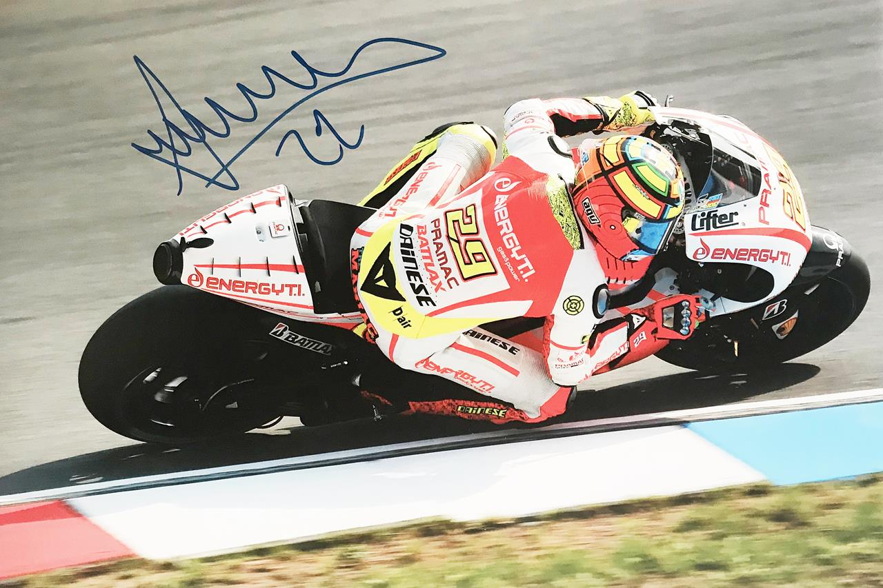 Genuine Andrea Iannone Signature - Signed Moto GP Poster Photograph