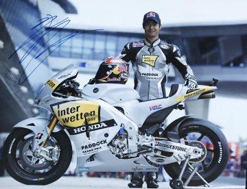 Hiroshi Aoyama Signed Poster - Photo Moto GP Signature