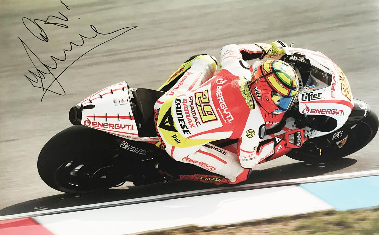 Signed Andrea Iannone Poster Photograph - Genuine Signature