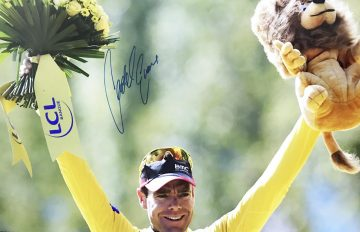 Signed Cadel Evans Poster - Authentic Tour de France Autograph