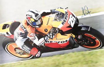 Signed Dani Pedrosa Poster - Authentic Moto GP Signature