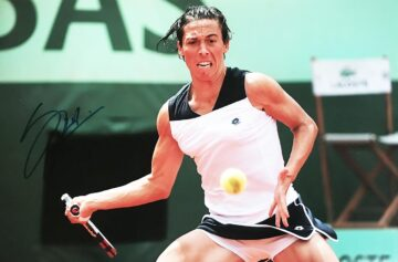 Signed Francesca Schiavone Poster Photo - Authentic Tennis Autograph
