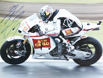 Signed Hiroshi Aoyama Poster Photo - Japanese Moto GP Driver