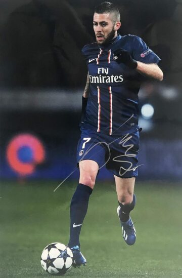 Signed Jeremy Menez Poster Photo - Authentic PSG Autograph