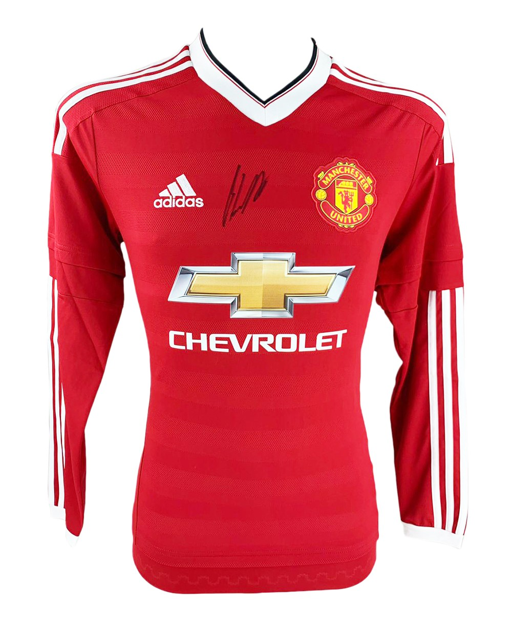 buy popular dd0ce d1b10 Signed Nemanja Matic Shirt - Manchester United Autograph