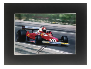 Signed Niki Lauda Photo Display