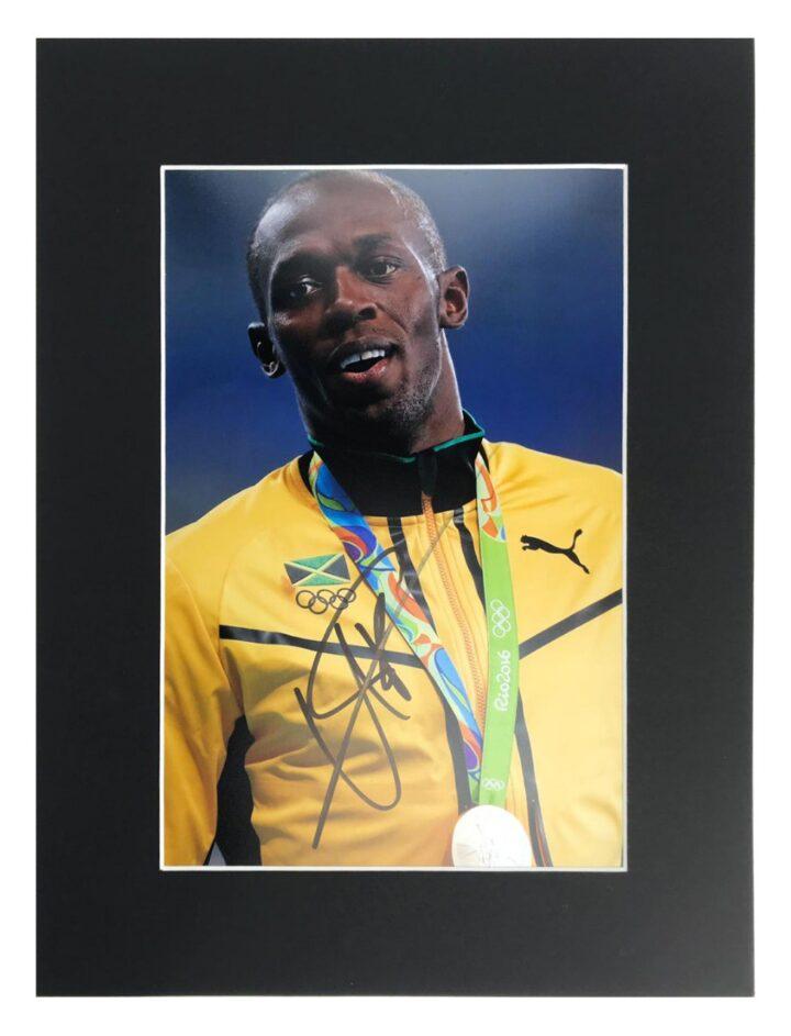 Signed Usain Bolt Photo