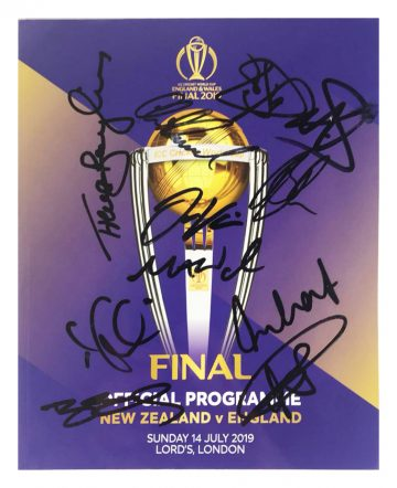 Signed England World Cup Final Programme