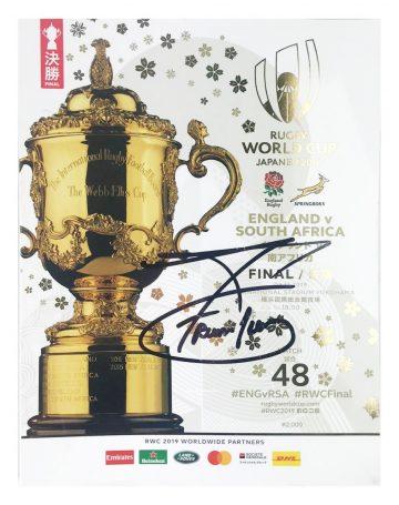 Autographed Francois Pienaar Programme