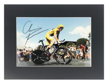 Signed Chris Froome Photo Display