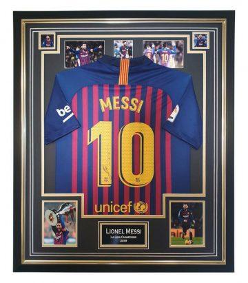Autographed Lionel Messi Shirt