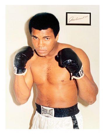 Autographed Muhammad Ali Photo