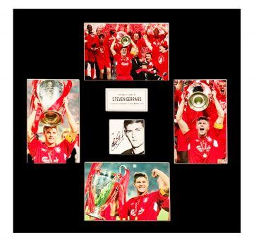 Autographed Steven Gerrard Photo Display